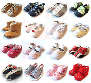 BABY SHOES SOFT BOYS/GIRLS TODDLER PRAM TRAINERS INFANT SANDALS 0 ...