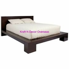 KraftNDecor Contemporary Wooden Double Bed in Queen Mattress Size