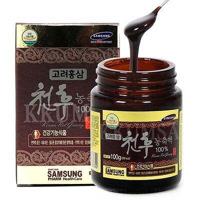 100% Pure Cheon Hu Korean Red Ginseng Extract 100g ( 1 Bottle ) panax ginseng