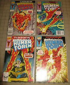 Saga of the Original HUMAN TORCH #1 Thru #4 (1990) FN/VF Condition Comic Set