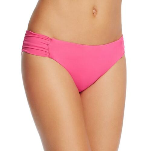 Trina Turk Womens Pink Ruched Solid Shirred Swim Bottom Size12~NWT