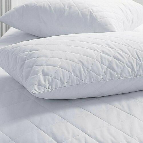 Luxury Zipped Quilted Pillow Protectors Bedding 100/% Microfibre Pack of 2,4,6,8