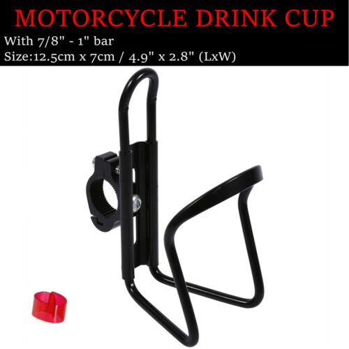 Black Drink Cup Holder For Yamaha V-Star 650 950 1100 1300 Classic Stryker