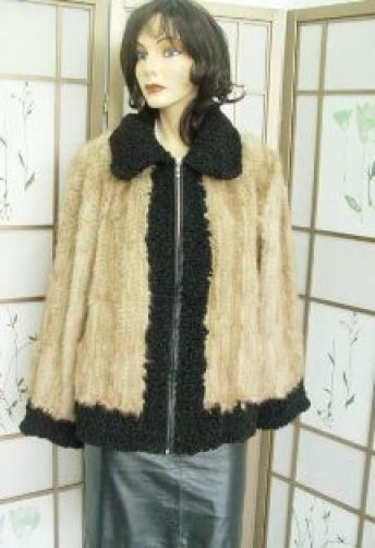 REFURBISHED nuevo punto visón y chaqueta  de abrigo de piel de cordero Persa Mujer Mujer Talla 8 M  tienda de venta en línea