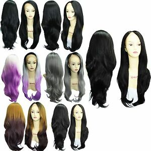 Women-Ladies-Synthetic-Hair-Heat-Resistant-Straight-Long-Lace-Front-Wig-76-2cm