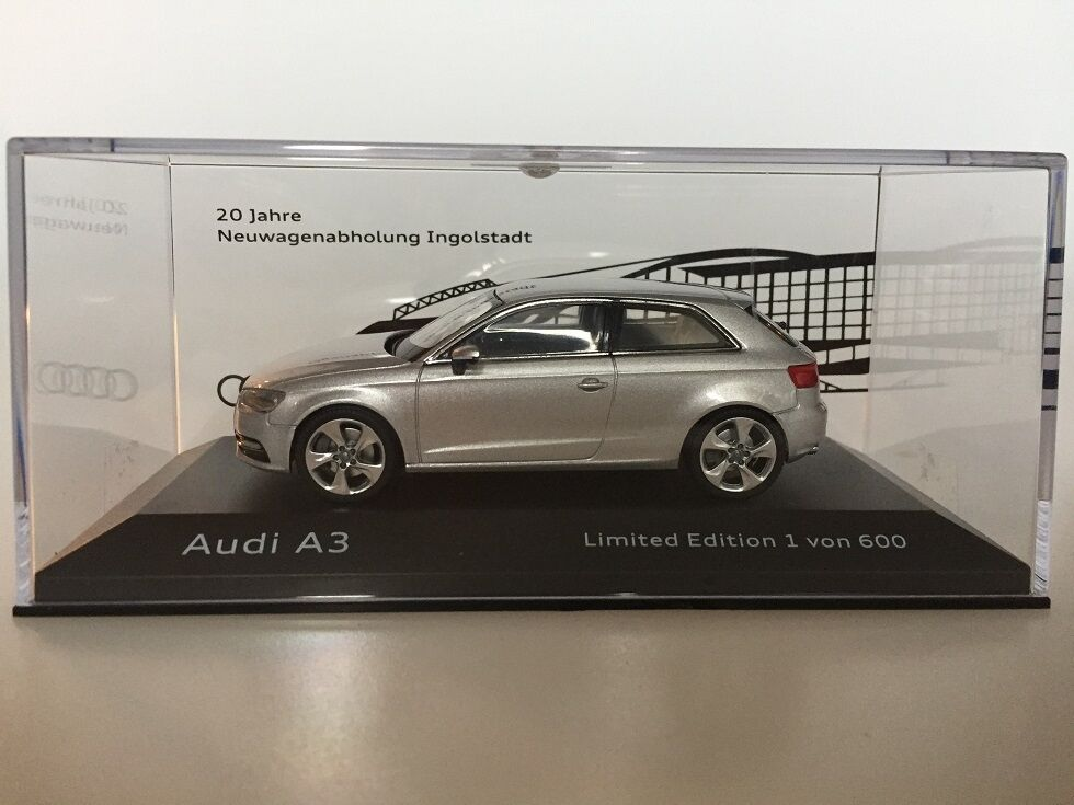 1:43 Schuco Audi A3 20 Jahre Neuwagenabholung Ingolstadt Limited 600pcs