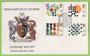 G-B-1977-Chemistry-set-on-Official-I-O-C-First-Day-Cover-London-WC