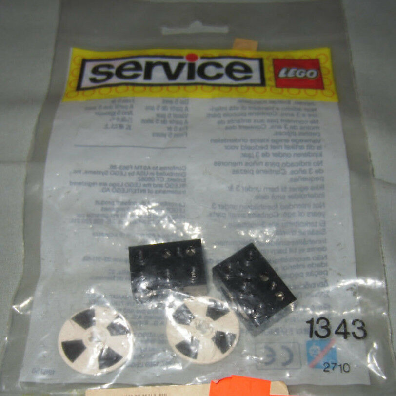 Lego Parts Set  1343 4.5V Optosensors x2 Discs x2 NEW in Sealed Bag - VERY RARE