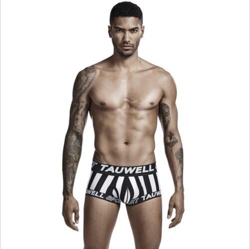 Tauwell Men/'s Striped Underwear Low Waist Cotton Boxer Briefs for Men 6 Colors