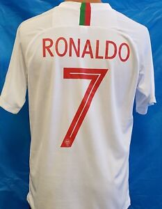 new concept d0ed6 d67d1 Details about New! Portugal National Team 2018 RONALDO White Jersey
