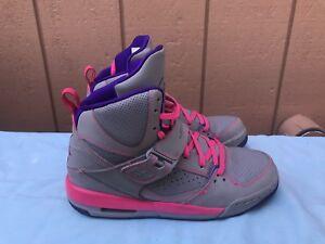 best cheap a3152 e08df Image is loading EUC-Nike-Air-Jordan-Flight-45-High-GS-
