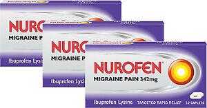 Nurofen-Migraine-Pain-342mg-12-PACK-x3-TRIPLE-PACK-Rapid-Relief-From-Migrane