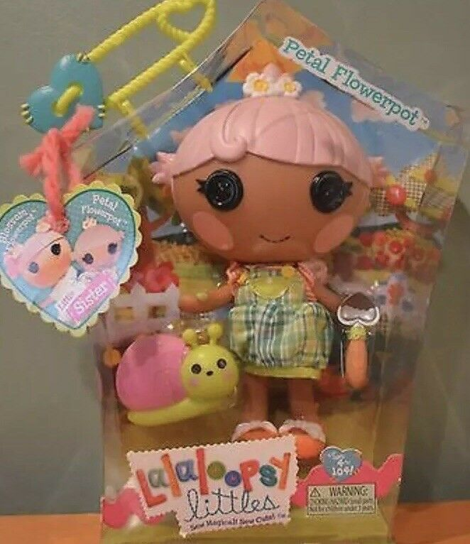 Lalaloopsy Petal Flowerpot Snail And Trowel-Boxed New Collectible Rare