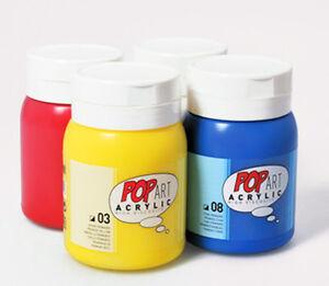 Pebeo pop art acrylic high viscosity art craft paint large 700 ml tub ebay - Peinture baignoire acrylique ...
