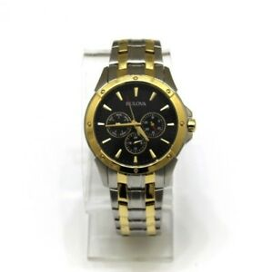 Men-s-Bulova-98C120-Classic-Dial-Two-Tone-Watch-Pre-owned
