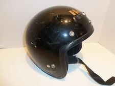 "Vintage 1995 Snell DOT HJC CL-5 Black Motorcycle Cycle Helmet Size SM 6-7/8 - 7"""