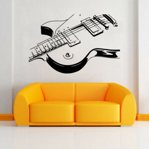 Details about Guitar Wall Stickers DIY Art Home Decorations Music Wall  Decals Bedroom Sticker