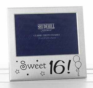 Sweet-16-Silver-Plated-Birthday-Photo-Frame-Occasion-Birthday-Present