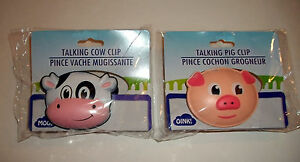 Talking Mooing Cow Amp Oinking Pig Snack Chips Clips Kitchen
