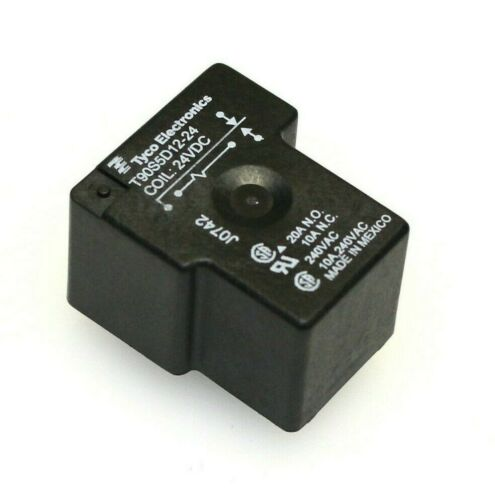 Tyco T90S5D12-24 SPDT 24VDC 20A//10A PCB-mount power relay qty=2
