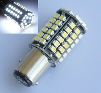 2pcs Bay15d 1157 Car White 80 SMD 3528 LED Tail Brake Stop Signal Light Bulb 4W