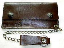 Geldbeutel Leder Braun Druckknopf Reißverschluß Geldbörse Purse Wallet Leather