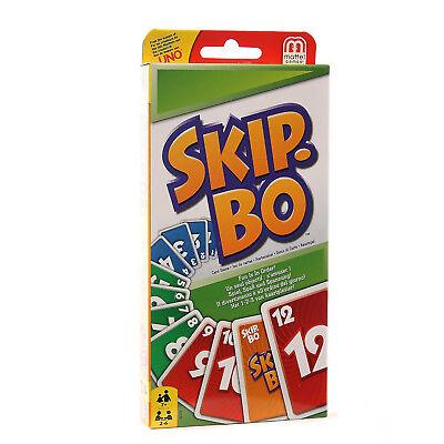 Mattel 52370 Kartenspiel Skip Bo Familienspiel Gesellschaftsspiel Kinderspiel
