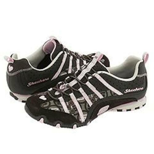 Skechers Bikers DIGNITY Chocolate Pink Silver Toddler Girls Elastic NEW Hearth