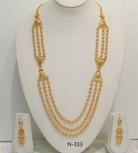 Indian Fashion Necklace Set Gold Plated Wedding Bridal Designer
