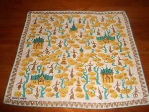 Vintage-Tammis-Keefe-Oriental-Beauty-Hanky-Handkerchief-Hankies
