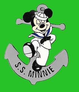 MICKEY-MOUSE-S-S-MINNIE-PIN-DISNEY-AUCTION-LE-100-SAILOR-ANCHORS-AWAY-AWEIGH