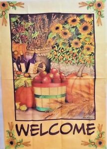"Welcome Autumn Bounty Standard House Flag by Toland 28"" x 40"", #0554"