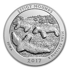 2017 5 oz Silver ATB Effigy Mounds National Monument, Iowa - SKU 102385