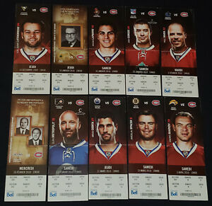 2009-2010-MONTREAL-CANADIENS-NHL-COMPLETE-UNUSED-TICKETS-10-ORIGINAL