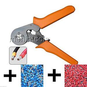 Adjusting-Ratcheting-Ferrule-Crimper-200Pcs-Crimp-Connector-Pin-Terminal