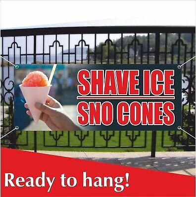 SNOW CONES Advertising Vinyl Banner Flag Sign Many Sizes THC