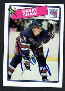 David Shaw #57 signed autograph auto 1988-89 Topps Hockey Trading Card