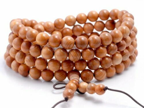 108PCS 8mm Rosewood Pearwood Beads Mala Beads Round 90182708-398