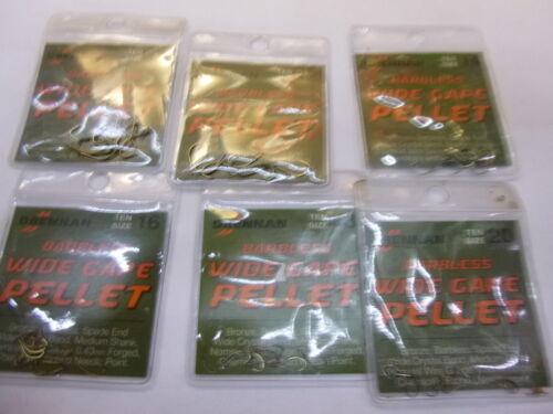 DRENNAN  barbless spade end carp hooks x3 packets