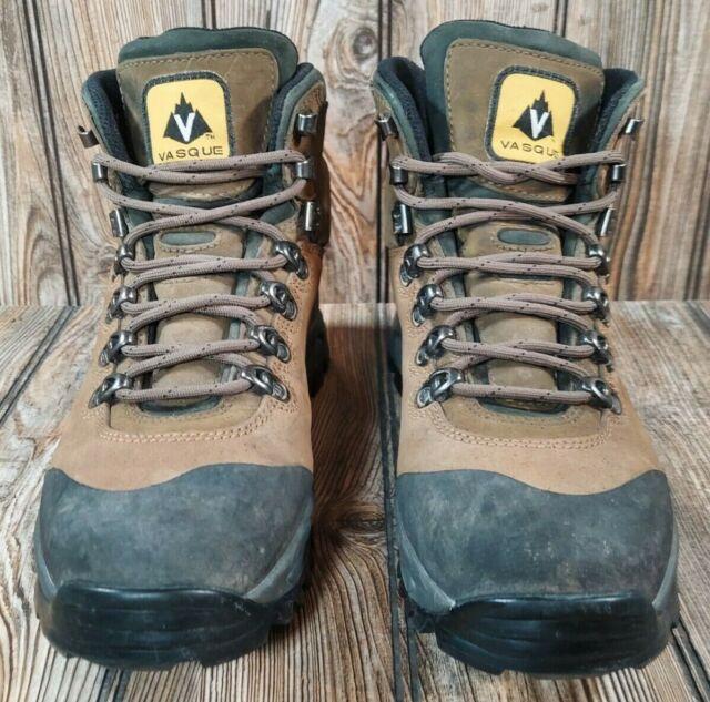 Vasque Wasatch 7166 Goretex Brown Hiking Boots Vibram Sole Mens Size 8.5