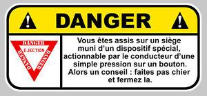 Danger Vehicule Protege Par Chuck Norris Fun Drift Jdm 12cm Sticker Da206 Auto, Moto – Pièces, Accessoires