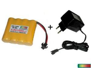 RC Akkupack 4.8V1000 mAh mit Ladegerät, mehrere Optionen...
