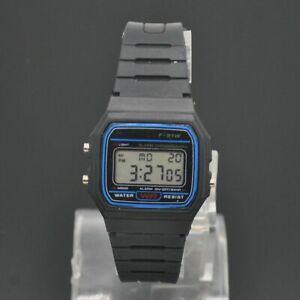 Casio-F91W-1D-Orologio-Digitale-F-91W-1-amp-Nuovo-di-Zecca-100-Autentico-NM-multifuctional