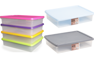 Image Is Loading Wham Plastic A3 Paper Storage Box Clear Colour