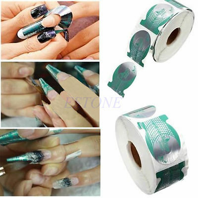 500PCS Tips Green Extension Sticke Nail Art Form Decoration Tool Acrylic UV Gel