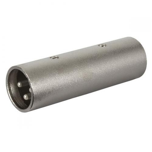XLR Adaptor Plug //Plug  Male// Male Connector Joiner Metal Pack 4