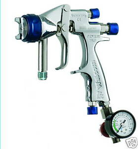 PAINT SPRAY GUN 1.9MM GENESI GEO PRESSURE FEED INCLUDES ACCESSORIES NEW!