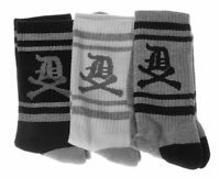 Dissizit 3 Pack Of Old English D X Bones White Gray Black Crew Socks Slick