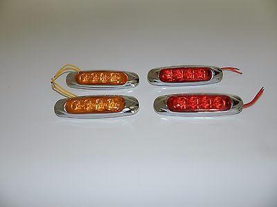 RV Teardrop Trailer LED 12 Volt Large (4 Diode) Side Markers