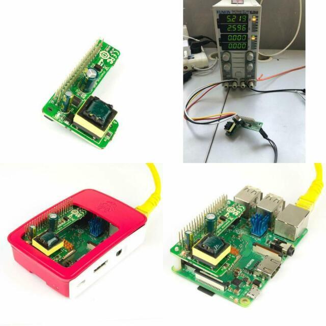 3B Plus PoE HAT Power Over Ethernet IEEE802.3af DC 5V 2.5A Raspberry Pi 4 4B 3B